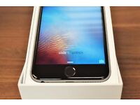 APPLE IPHONE 6 16GB ON O2 CHARGER HEADPHONE SIM PIN ALL BOXED