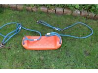 childs swing seat and ropes