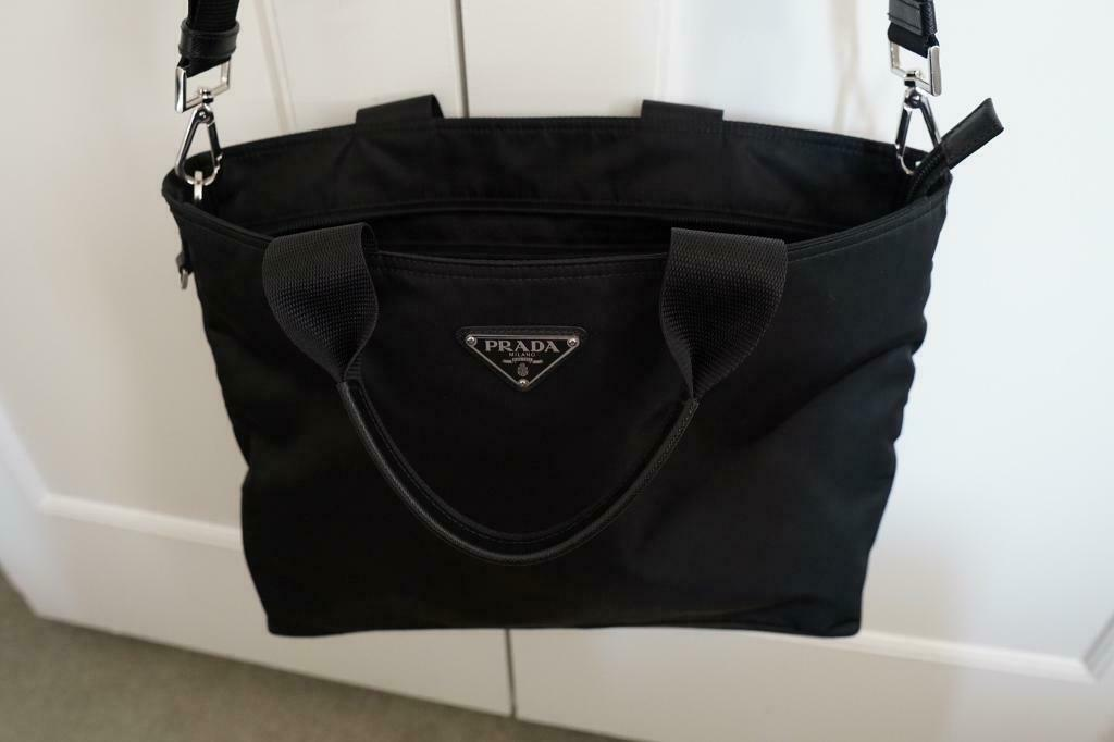 6fb4b8ab0caf Large PRADA black Nylon tote bag Authentic