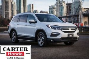 2016 Honda Pilot EX-L w/NAVI + 8 SEATS + LEATHER + AWD + CERTIFI