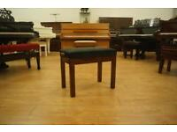 New gloss walnut adjustable piano stool