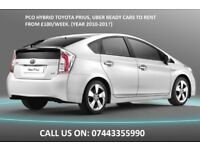 PCO Cars for rent or hire Toyota Auris, Prius & Honda Insight