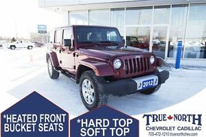 2012 Jeep WRANGLER UNLIMITED SAHARA UNLIMITED 4WD - HARD & SOFT