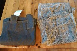 Beautiful panel curtains: snakeskin print and brand new denim