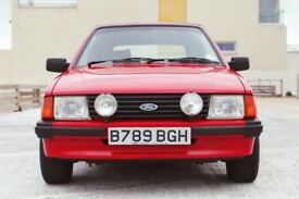 Ford Escort 1.6 Ghia 2dr£7,995 Low Mileage RARE FIND 1984 (B reg), Convertible 62,000 miles