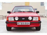 Ford Escort 1.6 Ghia 2dr£7,995 Low Mileage RARE FIND 1984 (B reg), Convertible 62,000 miles