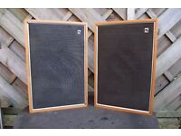vintage collectable decca/goodmans vintage bookshelf speakers