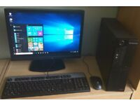 "Lenovo Windows 10 Pro Slim PC Computer/WIFI/2GB RAM/160GB/19""Widescreen Monitor"
