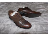 Brown Suede x Leather Brogues Size 6 ASOS