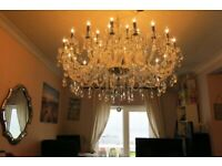Absolutely HUGE 24-ARM, 3.6 FOOT WIDE Lead Crystal Chandelier