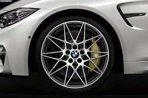ENSEMBLE KIT MAGS ET PNEUS BMW 19'' NEUFS STAGGERED RÉPLIQUE M4 NOIR ET MACHINÉ