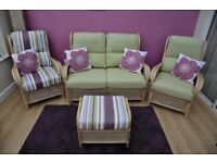 Oceans Designs 3 piece conservatory suite with stool