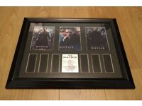 For sale I have a set for 2 of Matrix, Matrix Reloaded in very good condition The Framed Size 35mm