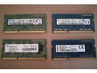 4Gb (1x4Gb) DDR3L PC3L-2800S Laptop Memory RAM Module Samsung Hynix Kingston
