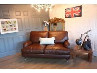 Multiyork Brown Leather 2 Seater Sofa Howard Style
