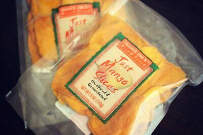 Trader Joe's Just Mango Dried Fruit Slices New & Fresh 1, 2, 3, 4, or 5 -