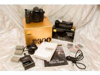Nikon D300 with Mbd-10 battery pack and extras