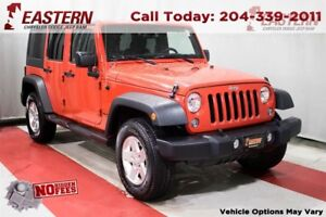 2015 Jeep WRANGLER UNLIMITED SPORT 3.6L 4X4 TOUCH SCREEN A/C CRU