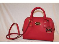 Michael Kors Small Satchel Red Saffiano Leather - NWT Receipt Available