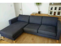 Ikea Karlstad modular CAN BE LEFT OR RIGHT HANDED corner sofa with chaise lounge