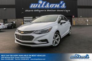 2017 Chevrolet Cruze PREMIER LEATHER! HEATED STEERING+SEATS! REA