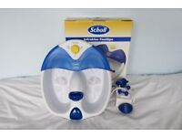 SCHOLL INFRABLUE FOOTSPA complete with accessories and instructions