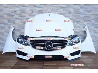 Car part single unit front end for Mercedes E Class W212 2012 -2017 E63 AMG facelift model LHD