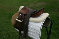 """Stubben Saddle 19""""and Pads with full bridle"""