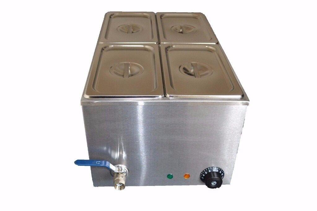 Bain Marie 4 pot wet with tap - EN0233 (oct)