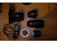Nikon D90, Nikkor 16-85mm, Nikkor 70-300mm, Nikkor 50mm and extras