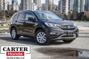 2015 Honda CR-V EX-L, one owner, local, low kms, Certified!