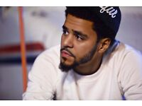 2X J COLE STANDING TICKETS MANCHESTER OCTOBER 2017