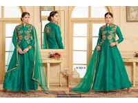 Very nice z blue tapeta silk dress in wholesale
