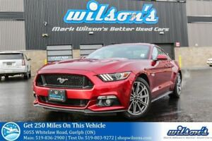 2015 Ford Mustang GT PREMIUM LEATHER! NAV! HEATED+COOLED SEATS!