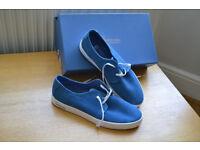 Mens Sweeney London Size 8 Glenties Blue Suede Sneakers RRP £150 (in original box - taking offers)