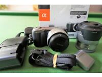 SONY NEX C3 Mirrorless Digital Camera 16.2 Mega Pixels (Black/Silver)