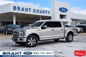 2016 Ford F-150 Platinum - CLEAN CARPROOF, LEATHER, ROOF, NAV!