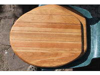 Wooden toilet seat in good condition