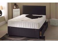 "LIMITED OFFER BRAND NEW Double Divan Bed With 10"" Ambassador Full Orthopaedic Mattress"