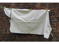 Skye Park horse rug summer sheet 6'0' & hood medium white