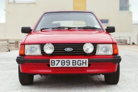 Ford Escort 1.6 Ghia 2dr£5,995 Low Mileage RARE FIND 1984 (B reg), Convertible 62,000 miles