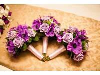 Wedding flowers (Bridesmaid, flower girl, top table & centre piece)