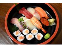 Counter/waiting staff wanted for a chain of authentic sushi bars in London