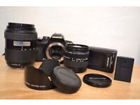 Olympus E400 with additional free lenses