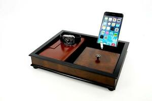 Bombay wood charging station for smart phones