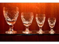 Whitefriars crystal glasses