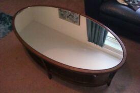 M&S mahogany mirror-topped table