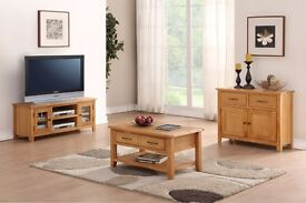 DURHAM NATURAL OAK SELECTION OF LIVING ROOM FURNITURE VARIOUS ITEMS