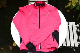 Women's Size 10 Pink Full Zip Jacket With Back Vent Good Condition Good For Spring & Winter