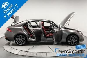 2014 Lexus IS 350 F SPORT, AWD, CUIR ROUGE, NAV, TOIT
